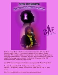 BWE Flyer - Dec 3, 2013